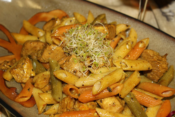 Korean-Chicken-Penne`-Pasta