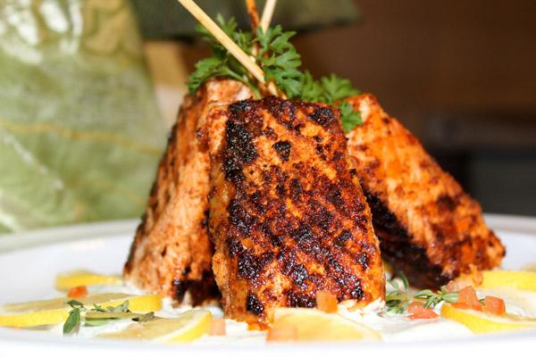 Salmon-Satay